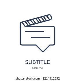 subtitle icon. subtitle linear symbol design from Cinema collection. Simple outline element vector illustration on white background.