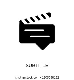subtitle icon. subtitle symbol design from Cinema collection. Simple element vector illustration on white background.