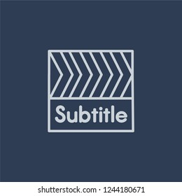 subtitle icon. Trendy flat vector line subtitle icon on dark blue background from Cinema collection.
