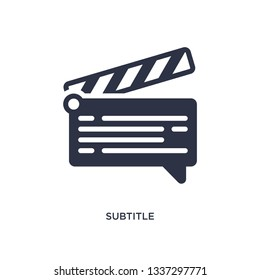 subtitle isolated icon. Simple element illustration from cinema concept. subtitle editable logo symbol design on white background. Can be use for web and mobile.