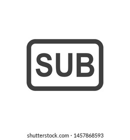 Subtitle media player icon vector image