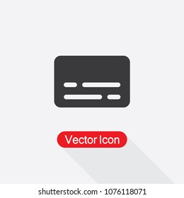Subtitle Vector Icon In Flat Design Eps10