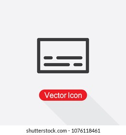 Subtitle Vector Icon In Line Style Eps10