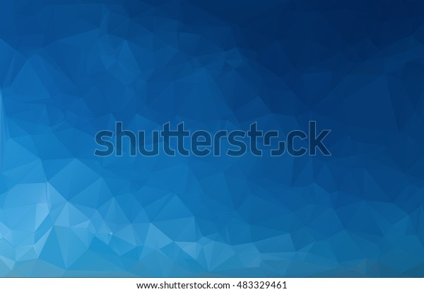 Subtle Blue Gradient Triangular Polygonal Illustration - Geometric Background