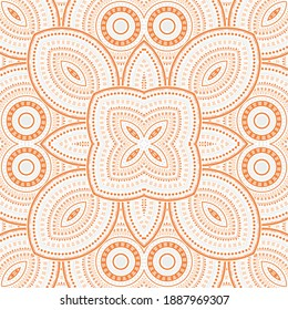 Subtle moroccan zellige tile seamless rapport. Ethnic geometric vector elements. Rug print design. Traditional moroccan zellige tilework seamless pattern. Line art graphic background.