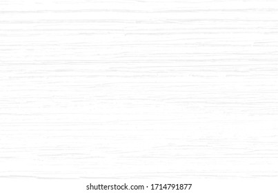 Subtle white wood texture background of distressed oak grain. Cool light grey natural wooden texture wallpaper.  White wooden table top view. Vector EPS10.