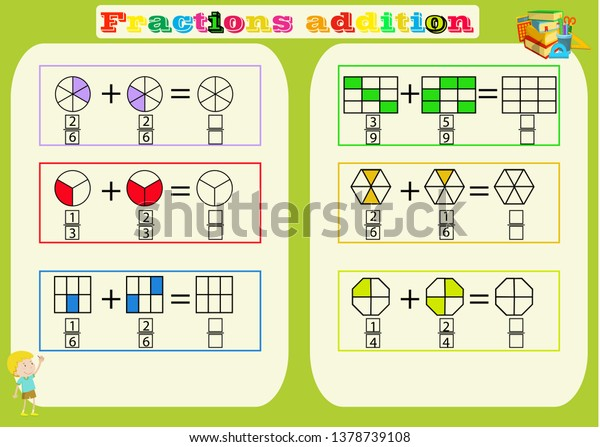 picture relating to Free Printable Fraction Games referred to as Subtracting Fractions Mathematical Worksheet Triangles