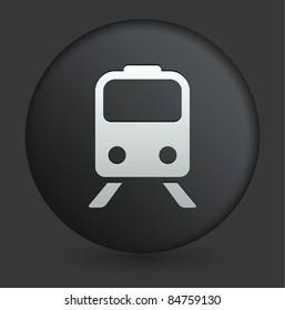 Subway Icon on Round Black Button Collection Original Illustration