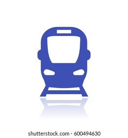 subway icon, public transport vector sign isolated on white