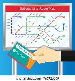 Subway Metro Bus Railway Ticket Pass Card RFID NFC Transport Passenger Gate