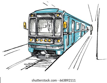 Subway station sketch