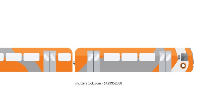 subway train illustration in scotland UK