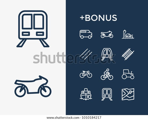 Subway Map Bike.Subway Transport Icon Line Set Ship Stock Vector Royalty Free