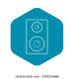 Subwoofer icon. Outline illustration of subwoofer vector icon for web