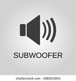 Subwoofer icon. Subwoofer symbol. Flat design. Stock - Vector illustration