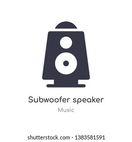 subwoofer speaker outline icon. isolated line vector illustration from music collection. editable thin stroke subwoofer speaker icon on white background
