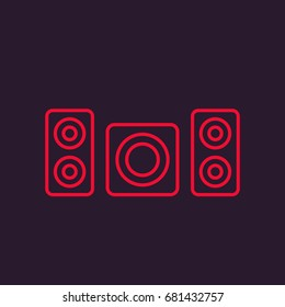 subwoofer and speakers vector icon