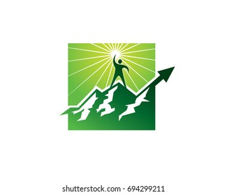 SUCCEED TO THE TOP OF THE MOUNTAIN LOGO