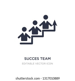 succes team icon on white background. Simple element illustration from People concept. succes team icon symbol design.