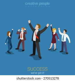 success cartoon images stock photos vectors shutterstock https www shutterstock com image vector success business flat 3d web isometric 270513278