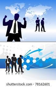 Success business people, conceptual business illustration.