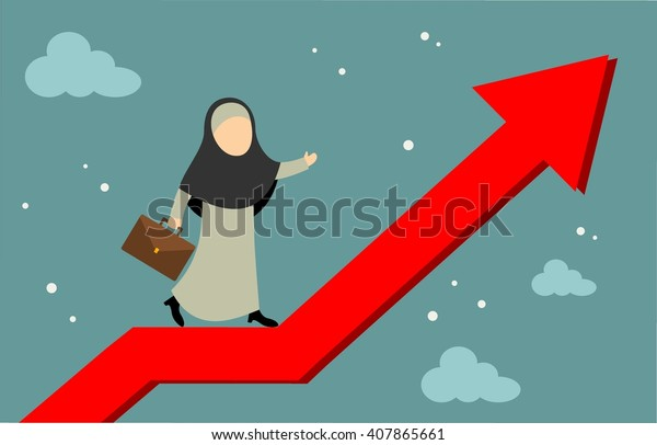Success Businesswoman Character Stand On Arrow Stock Vector Royalty Free 407865661 Line art heart with arrow icon. shutterstock