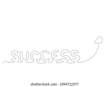 success - continuous line drawing