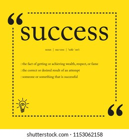 Success definition spelling