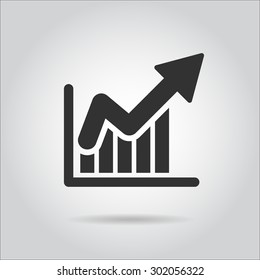 success icon ,  diagram  chart graph up growth