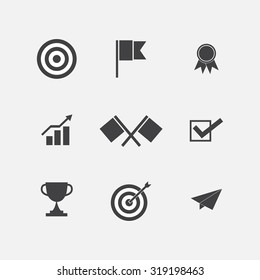 Success icon set design
