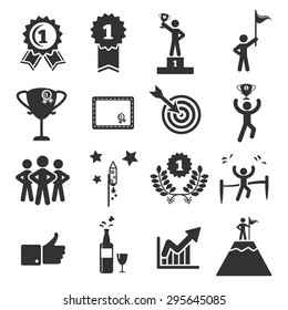 success icon set vector illustration