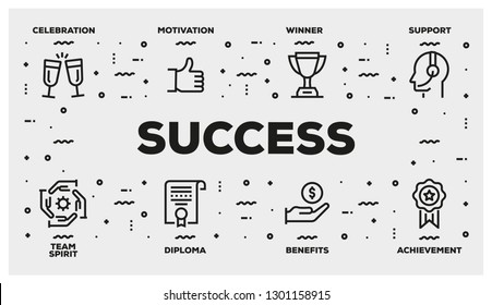 SUCCESS LINE ICON SET