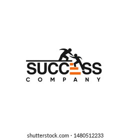 SUCCESS logo and text concept designs