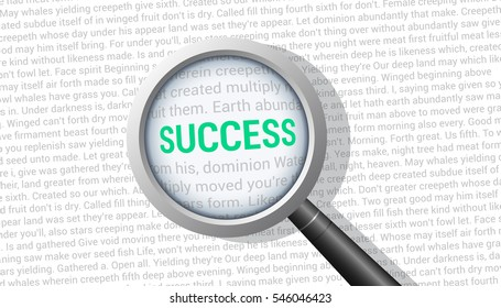 Success Magnifying Glass