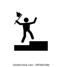 Success man icon, avatar icon