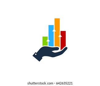 Success Profit Stock Market Icon Logo Design Element