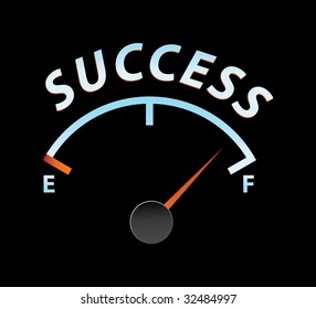 success speedometer in vector mode