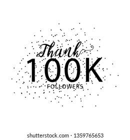 success template of 100k followers of social media