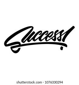 Success, Text Handwriting