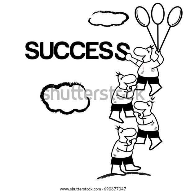 success vector cartoon illustration art vector stock vector royalty free 690677047 https www shutterstock com image vector success vector cartoon illustration art format 690677047