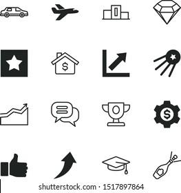 success vector icon set such as: satellite, winners, message, science, ok, mobile, good, jet, approve, championship, graduating, limousine, gemstone, diamond, high, okay, wheel, achievement, style