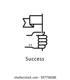 Success Vector Line Icon
