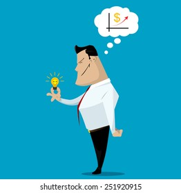 Successful business concept, make right decisions. Vector illustration
