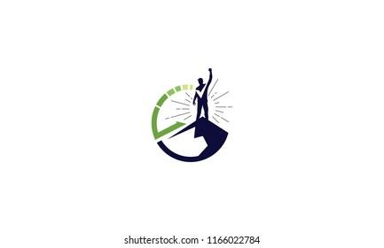Successful business mountain logo vector icon