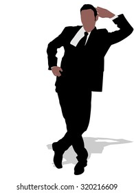 Successful businessman, vector