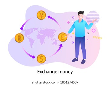 A successful financial investment. Financial currency exchange. vector illustration.