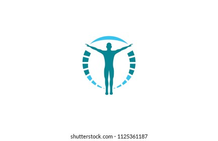 successful health logo icon vector