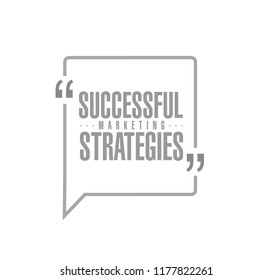 Successful marketing strategies line quote message concept isolated over a white background