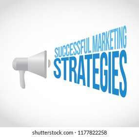 Successful marketing strategies loudspeaker message concept isolated over a white background