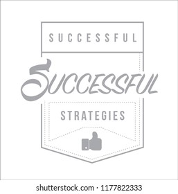 Successful marketing strategies Modern stamp message design isolated over a white background